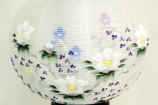 盆提灯 彩雲の里 絹二重絵入 12号 (859-4212)送料無料