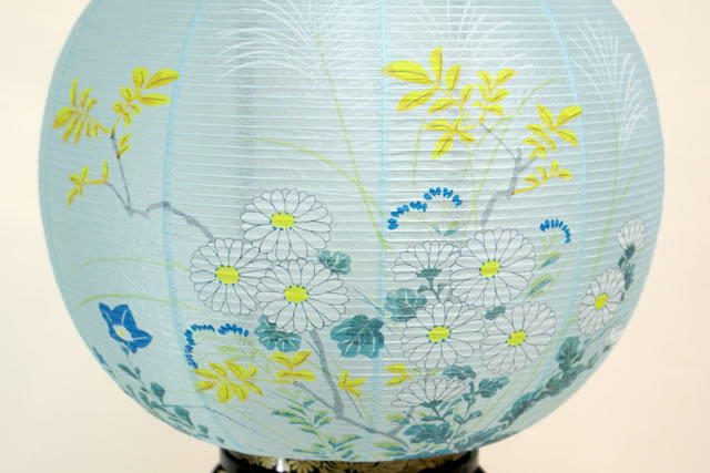 盆提灯 花印蒔絵 絵入 (8-3102)