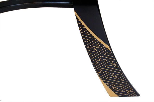 盆提灯 花印綾型蒔絵 絹二重絵入(8406-11-430)