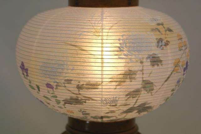 盆提灯 萩の香 8号 絵入 (852-4798)