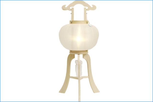 盆提灯 柾 10号 絹無地 LED (855-3800)送料無料