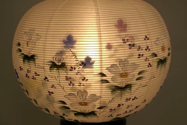 盆提灯 彩雲の里 絹二重絵入 11号 (859-4211)送料無料