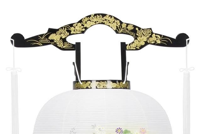盆提灯 廻転行灯 あかり11号 蒔絵 絵入(8607-11-715)