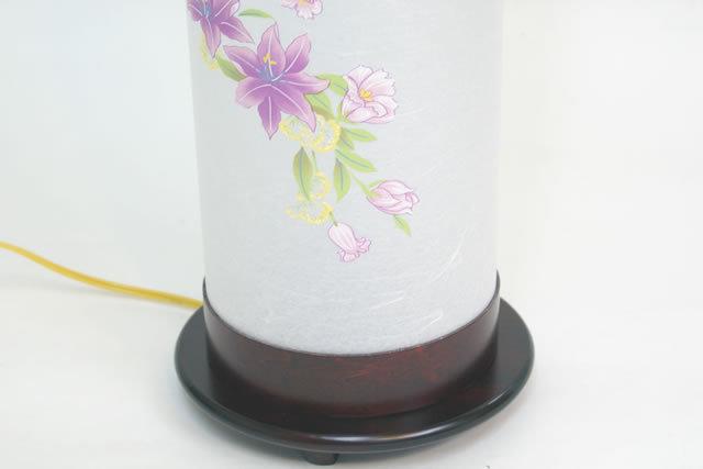 【組立不要】盆提灯 モダン廻転提灯 クレマチス 大 (8700-83-000)送料無料